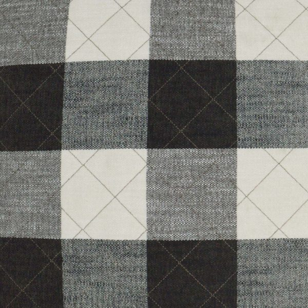 Front: Buffalo Quilt-Grey