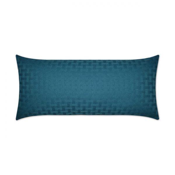 Carmel Weave Lumbar-Turquoise