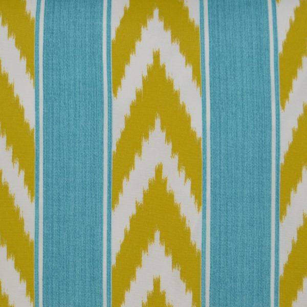 IKAT Stripe Lumbar-Turquoise
