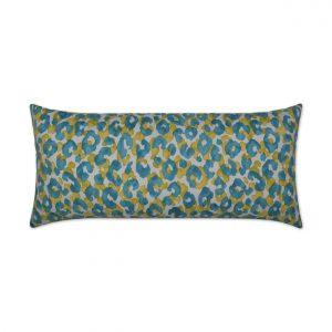 Snow Leopard Lumbar-Turquoise