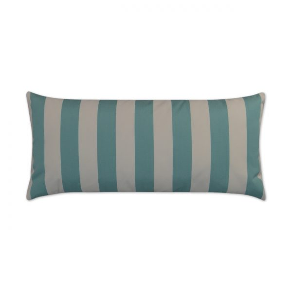 Cafe Stripe Lumbar-Aqua