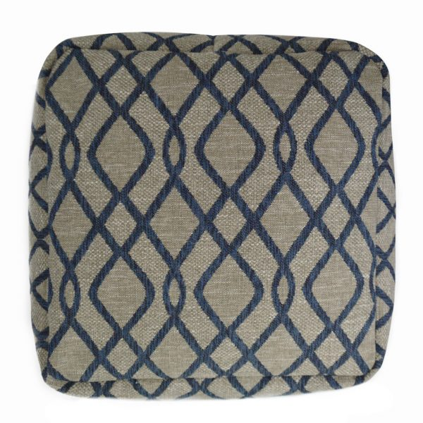 (PF-100) Cube Pouf | Fabric: (2912) Elisende