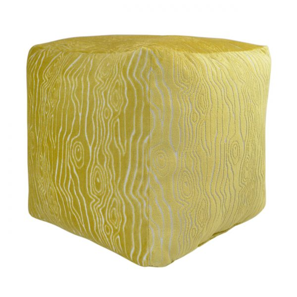 (PF-100) Cube Pouf | Fabric: (2579-C) Rivers - Citron