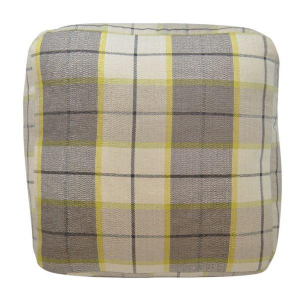 (PF-101) Spectrum Pouf   Fabric: (2581-C) Penn-Plaid - Citrus