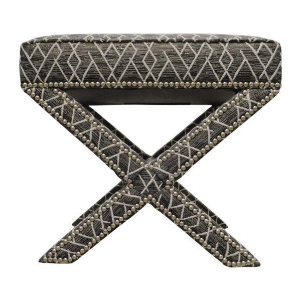 (U-203) Jaffa Ottoman   Fabric: (2811) Ritz   Nails: Houston