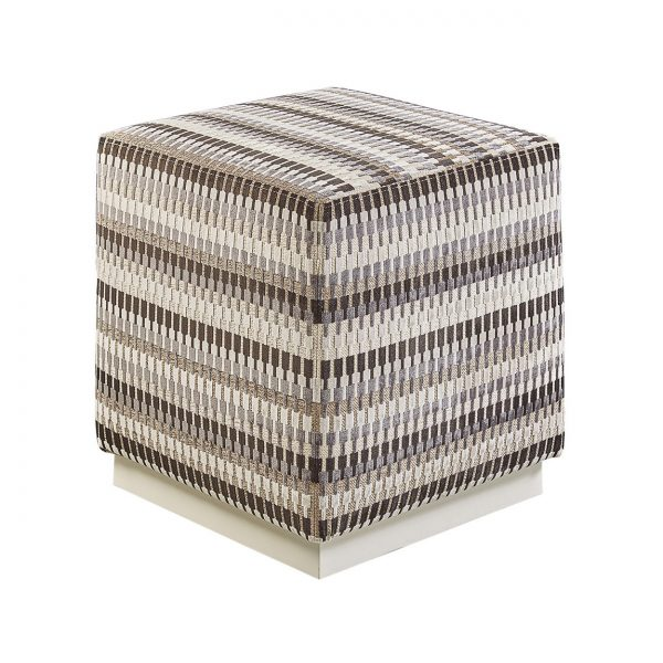 (U-205) Draco Ottoman | Fabric: (2988-M) Lucas - Marble | Finish: Wood - Alabaster