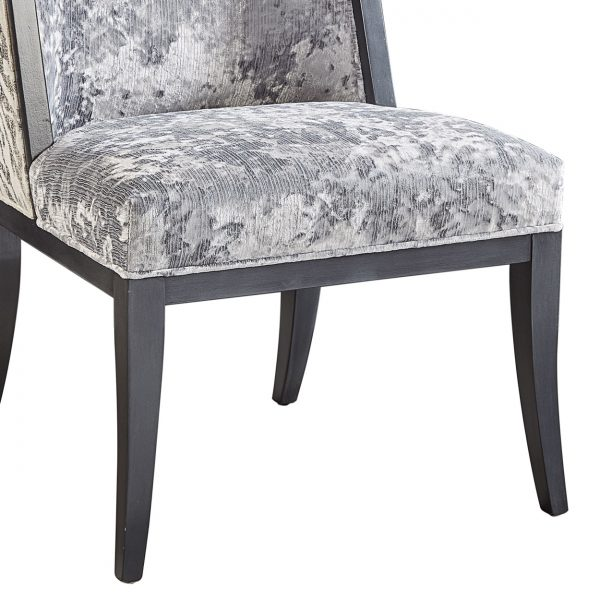 (U-210) Tabor Chair | Inside: (2867-S) Miranda - Silver | Outside: (2757) Ryder | Finish: Wood - Heron