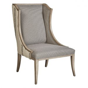 (U-213) Esther Chair | Inside: (3014-G) Entwine - Grey | Outside: (2528) Whitefield | Finish: Wood - Fog