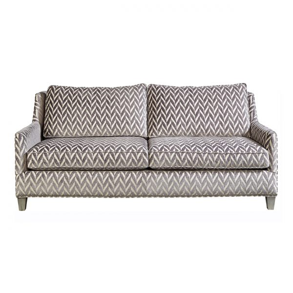 (U-223) Benjamin Sofa | Fabric: (3056-Z) Charming - Zinc | Finish: Wood - Platinum | Nails: Houston