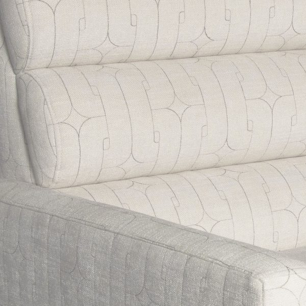 (U-234) Nelson Sofa | Fabric: (3103-I) Unchained – Ivory | Finish: Wood – Espresso