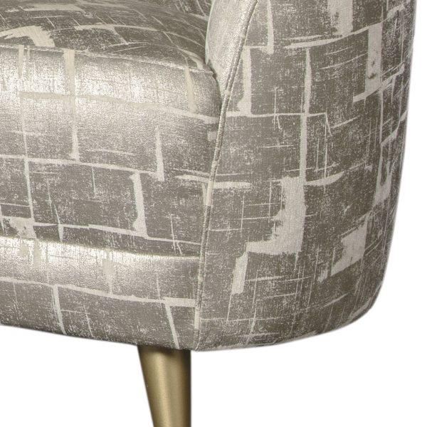 (U-235) Tava Sofa | Fabric: (3176-G) Glam - Gold