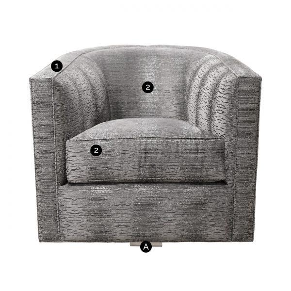 (U-238) Giana Swivel Chair (Chart)