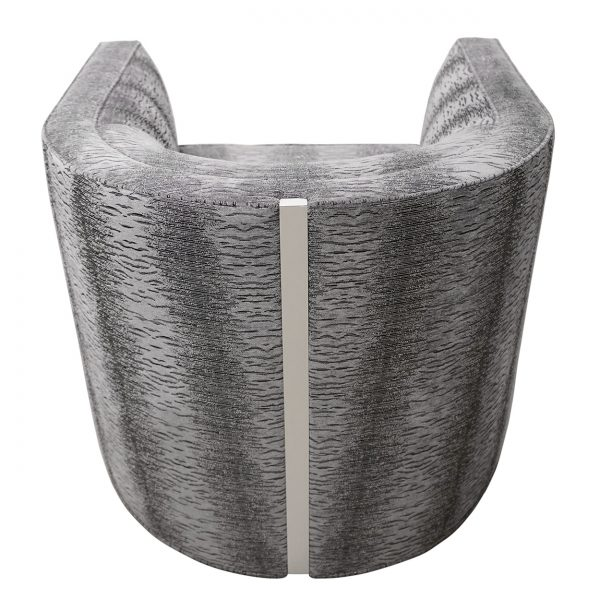 (U-238) Giana Swivel Chair | Fabric: (3273) Majestic | Finish: Laminate - Aluminum