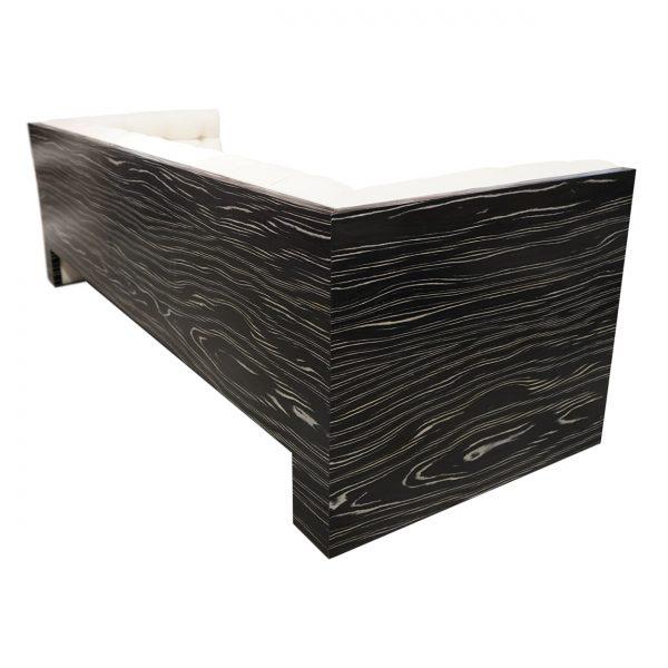 (U-243) Calvary Sofa | Fabric: (3015-I) Stream - Ivory | Finish: Laminate - Tuxedo