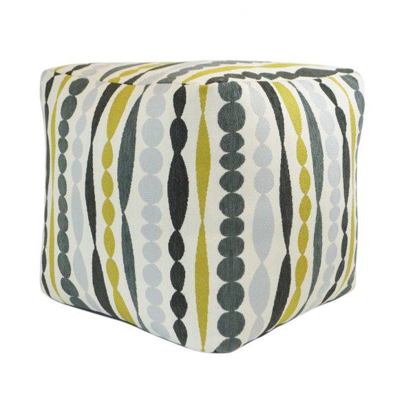 (PF-100) Cube Pouf | Fabric: (2744-Q) Big Bang - Quince