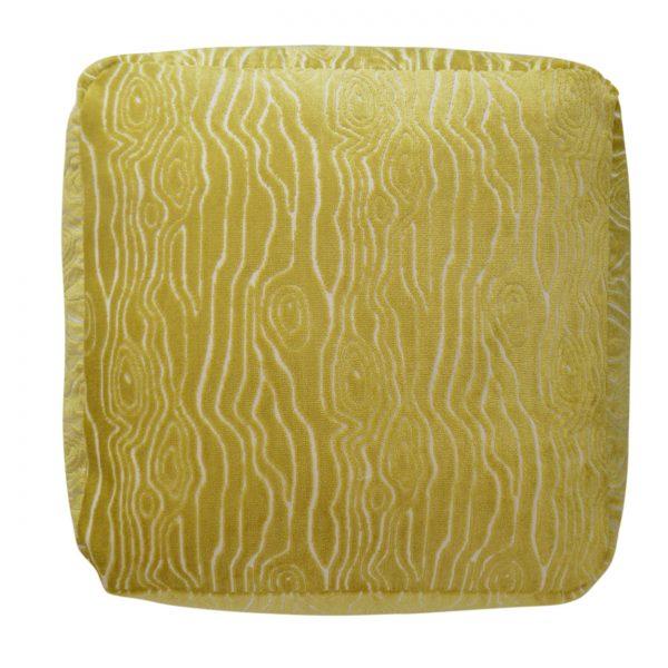 (PF-100) Cube Pouf | Fabric: (2579-C) Rivers - Citron