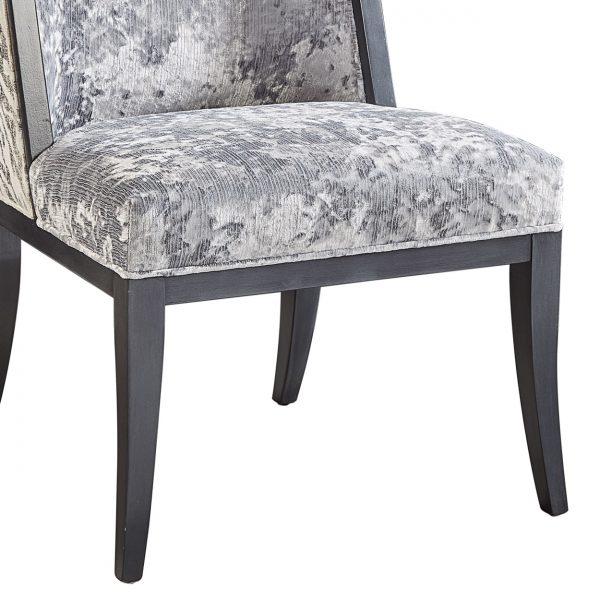 (U-210) Tabor Chair   Inside: (2867-S) Miranda - Silver   Outside: (2757) Ryder   Finish: Wood - Heron