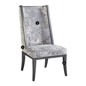 (U-210) Tabor Chair | Inside: (2867-S) Miranda - Silver | Outside: (2757) Ryder | Finish: Wood - Heron