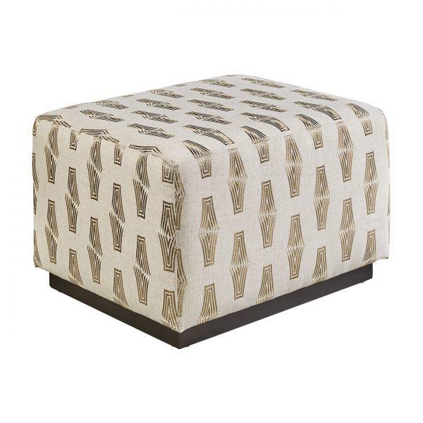 (U-220) Nineveh Ottoman-Table | Fabric: (3005-G) Harmon - Gold | Finish: Wood - Chateau
