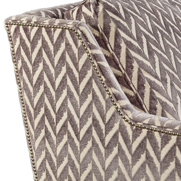 (U-223) Benjamin Sofa | Fabric: (3056-Z) Charming - Zinc | Finish: Wood - Platinum | Nails: Houston