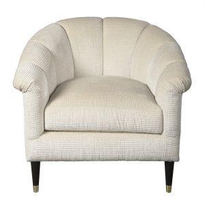 (U-227) Cyrus Chair | Fabric: (3123-P) Opulence-Pearl | Finish: Wood-Heron