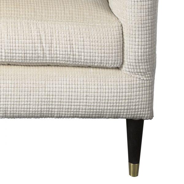 U-227) Cyrus Chair   Fabric: (3123-P) Opulence-Pearl   Finish: Wood-Heron