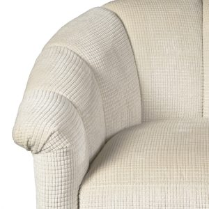 U-227) Cyrus Chair | Fabric: (3123-P) Opulence-Pearl | Finish: Wood-Heron