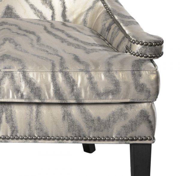 (U-228) Grace Chair | Fabric: (3157-C) Waves - Charcoal | Finish: Wood - Heron