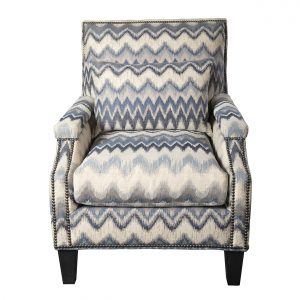 (U-229) Micah Chair | Fabric: (3119) Zippity | Finish: Wood - Heron | Nails: Tyler