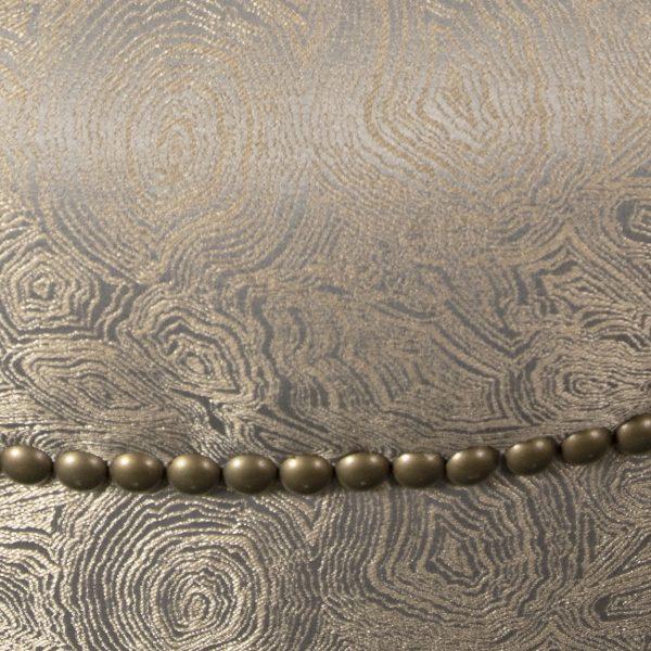 (U-232) Omega Ottoman   Fabric: (2787-T) Gatsby - Taupe   Nails: Paris