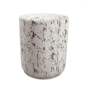 (U-250) Bongo Ottoman   Fabric: (3218-I) Stonewash – Ivory   Finish: Wood – Travertine