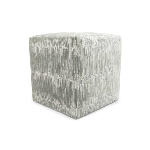 (U-257) Contempo Ottoman   Fabric: Techno-Platinum (2919-P)
